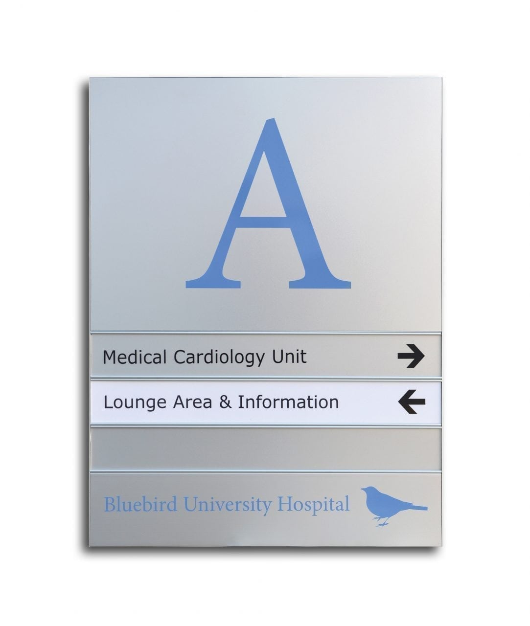 Flat directory sign with replaceable inserts – SLIM (SL865)