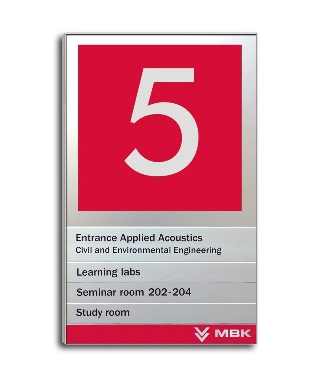 Flat directory sign with magnetic sign rows – MAGNETIC (MG564)