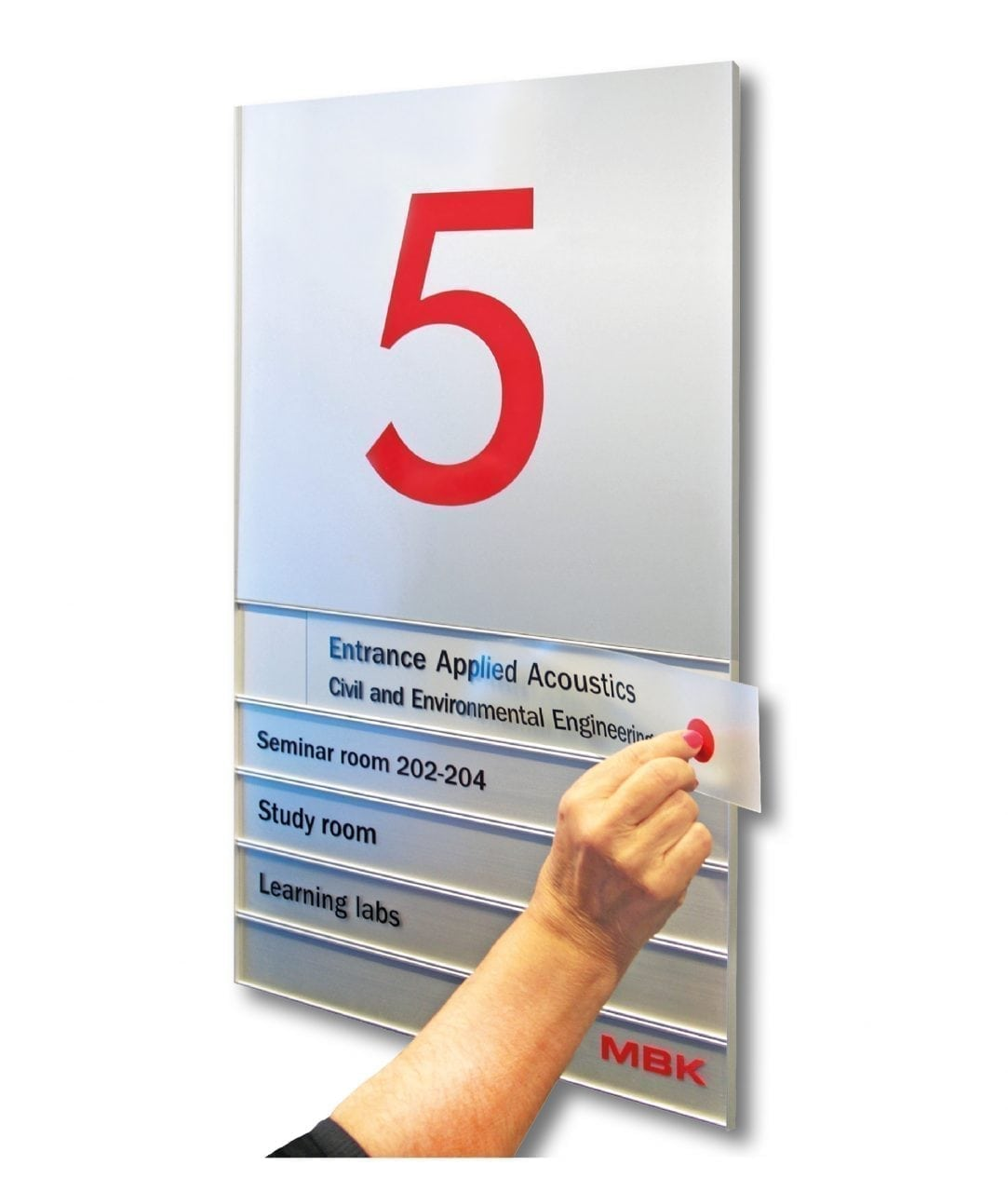 Flat directory sign with replaceable plastic inserts – SLIM (SL864)