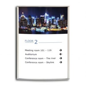floor-sign-a4-size-curved-replaceable-insert