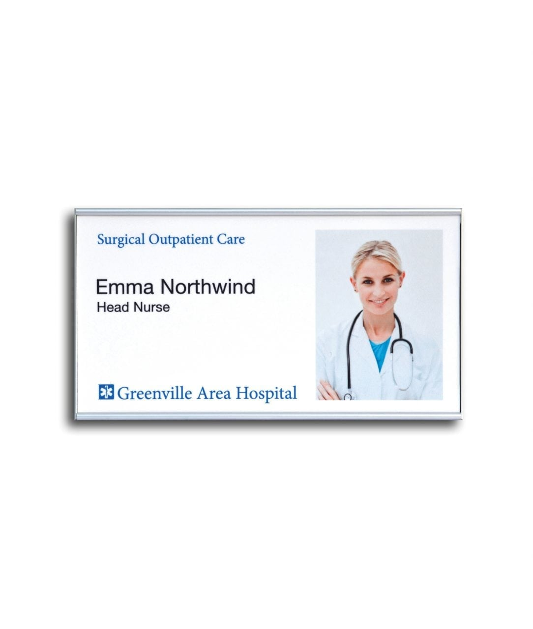 Flat nameplate with replaceable insert – SLIM (SL888)