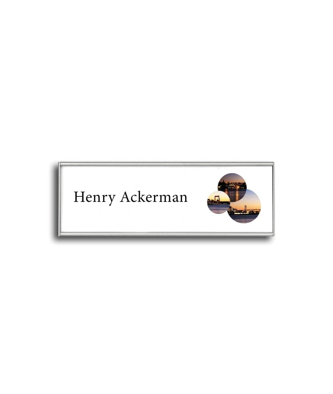 Flat nameplate with replaceable paper insert – SLIM (SL850)