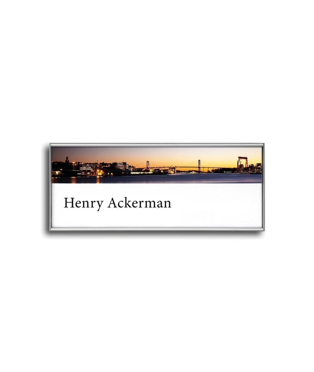 Flat nameplate with replaceable paper insert – SLIM (SL870)