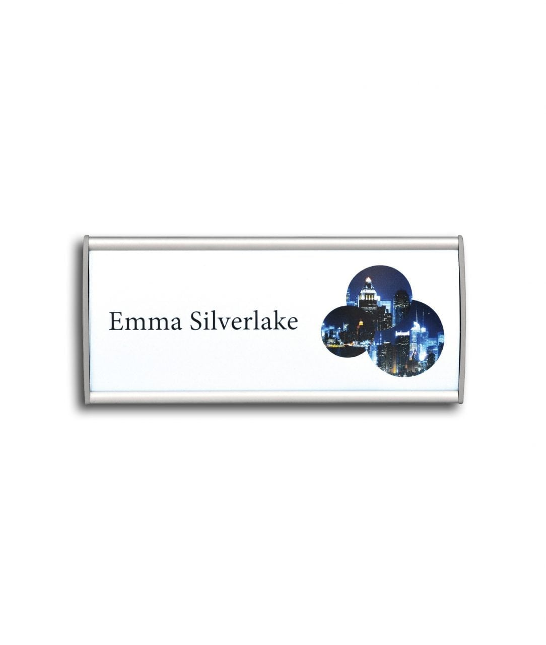 Curved nameplate with replaceable paper insert – CONVEXA (CN774)