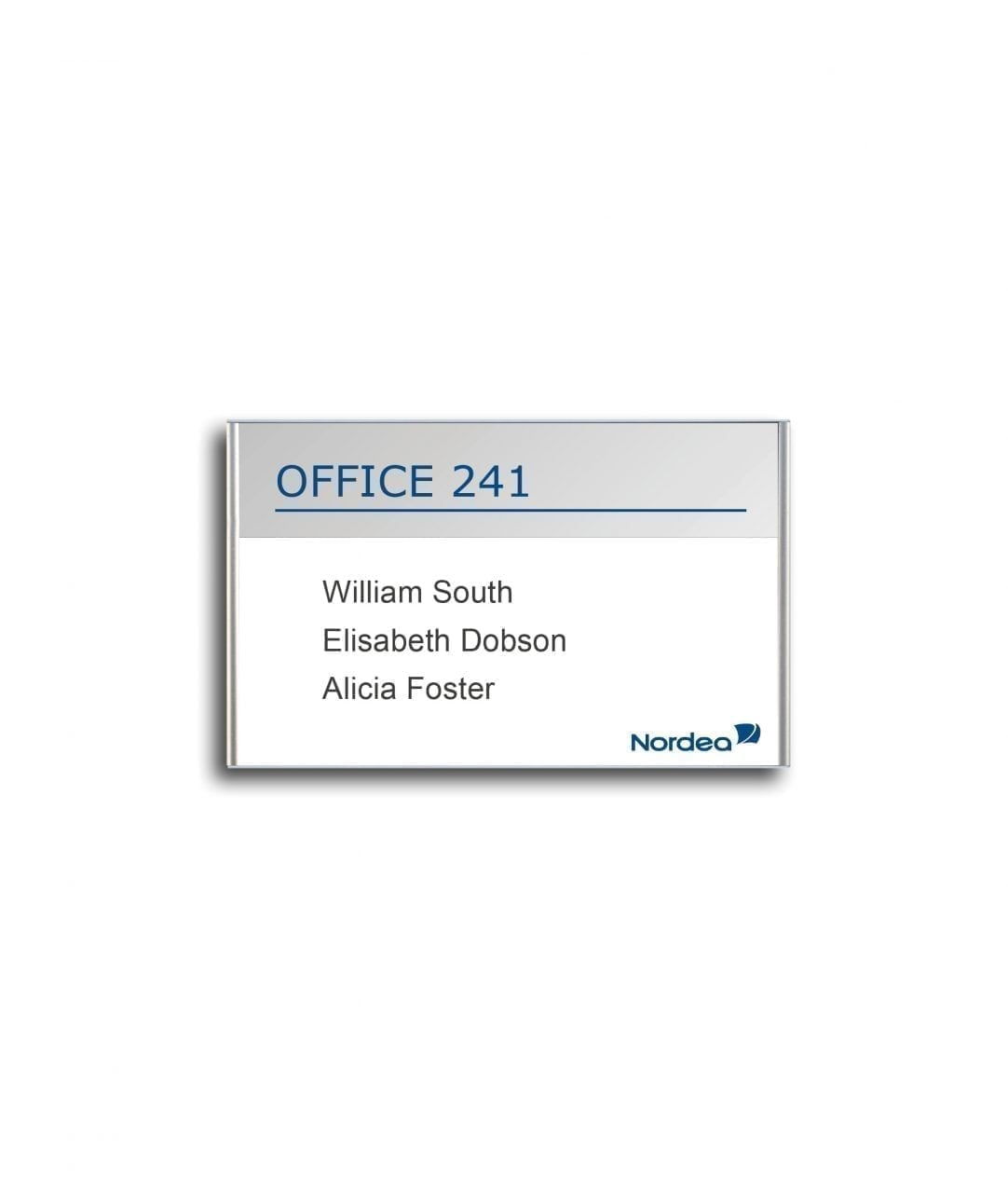 Room sign / nameplate with replaceable paper insert – SLIM (SL856)