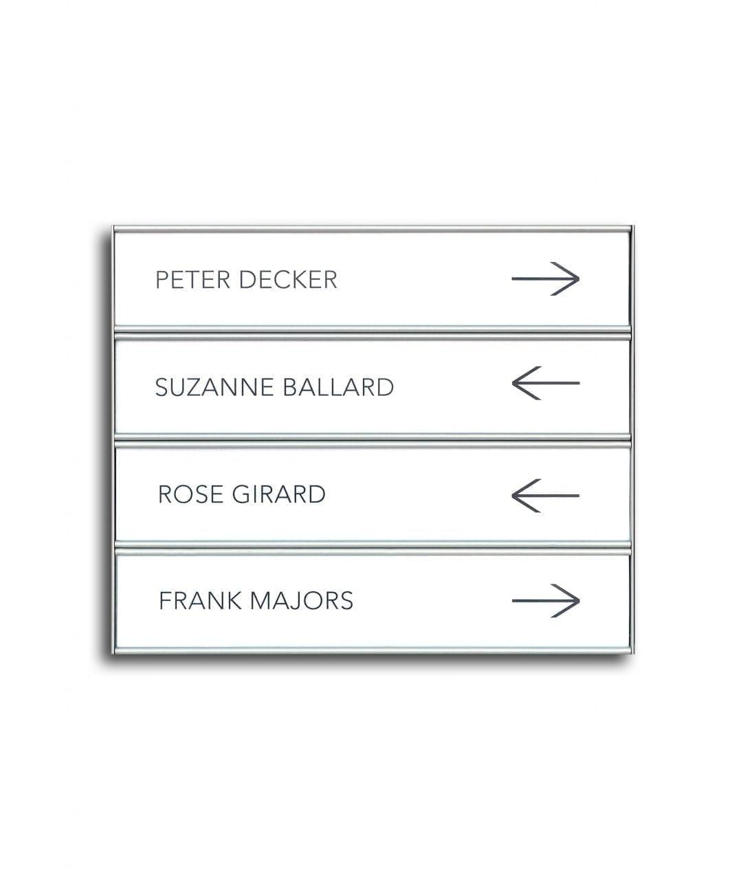 Flat nameplate, multi-row – SLIM (SL844)