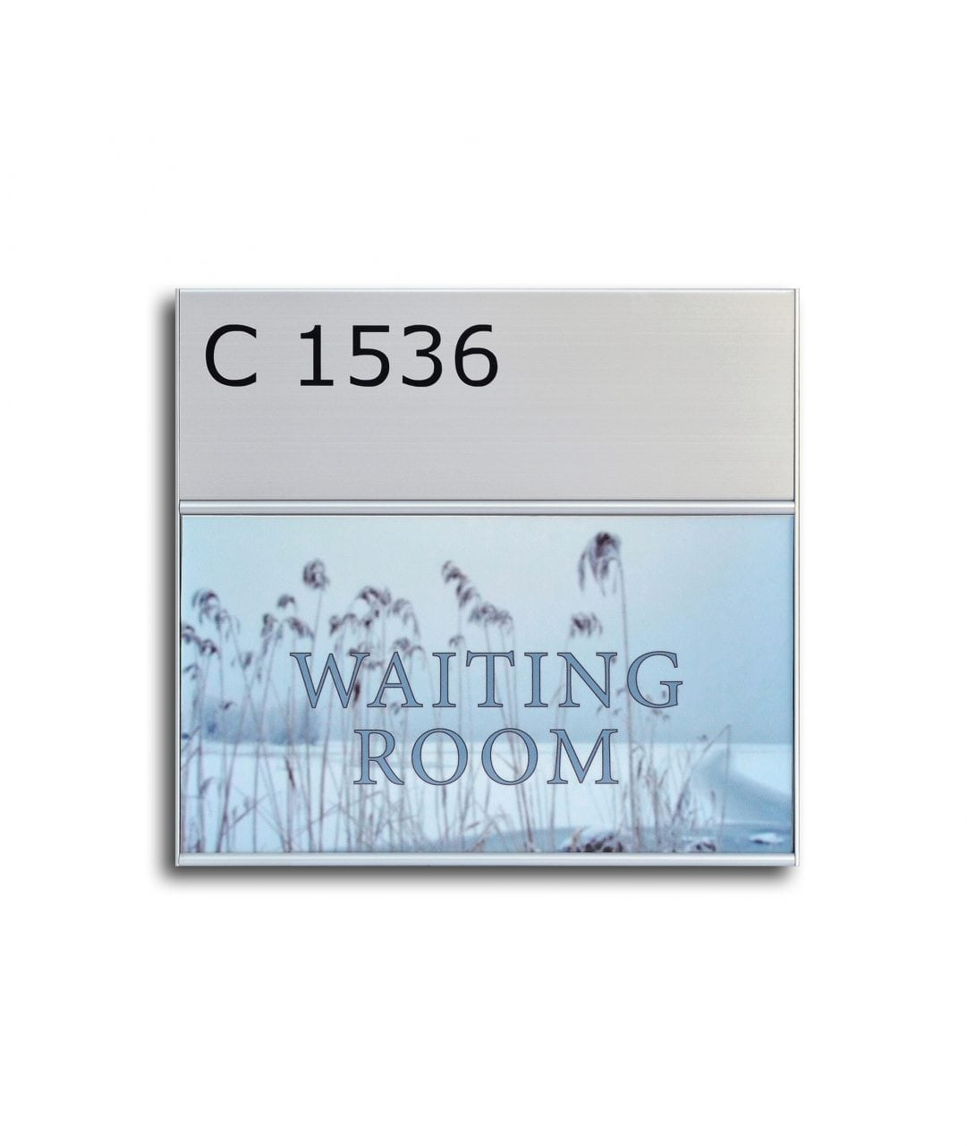Room sign with sign header and replaceable insert– SLIM (SL887)
