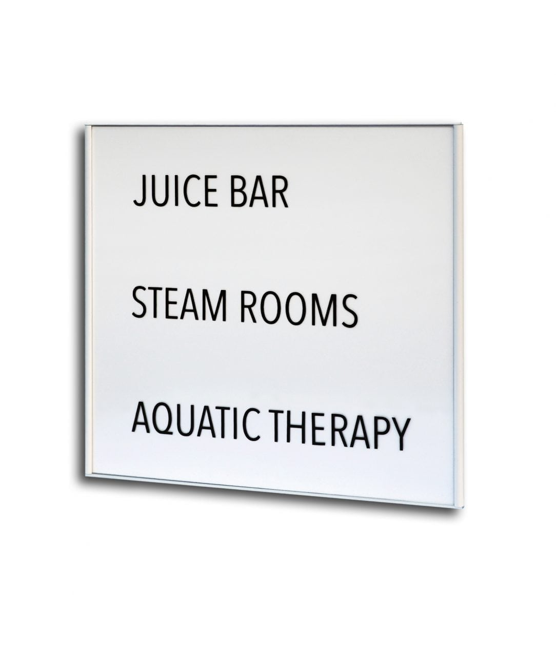 Room sign with replaceable plastic insert, white coated – SLIM (SL892)