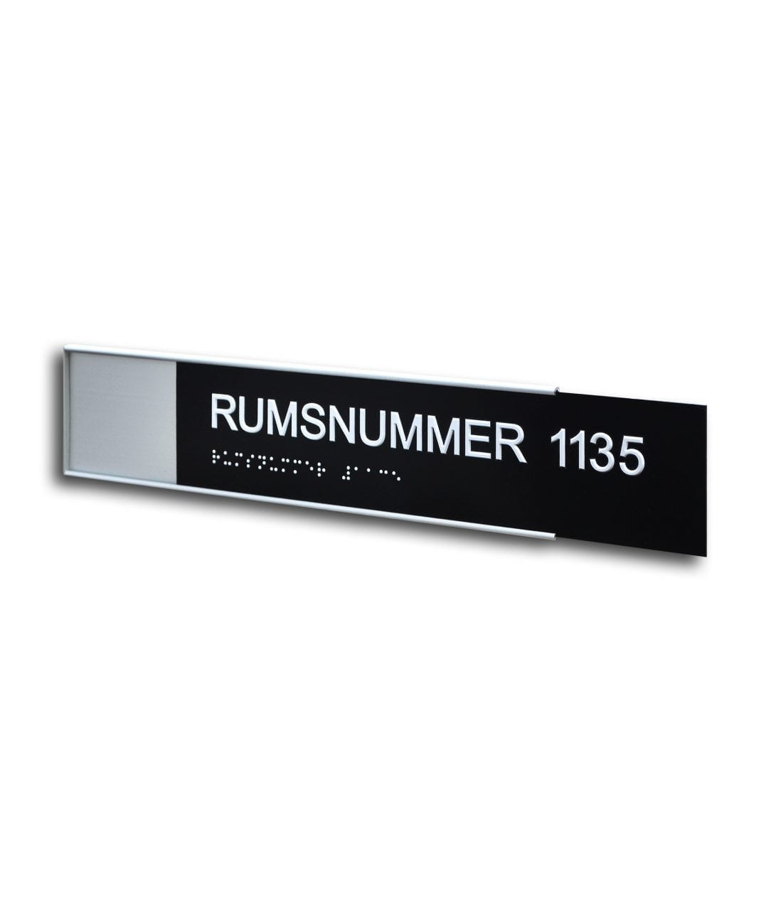 Room sign with tactile/braille insert – SLIM (SL883)