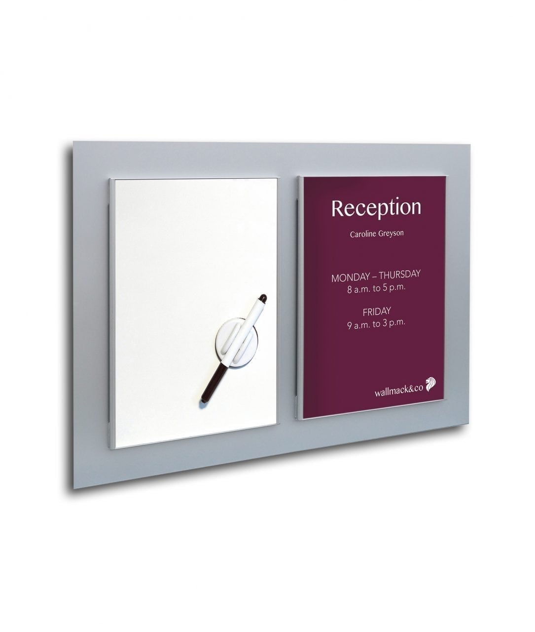Bulletin board, whiteboard and replaceable A4-size insert – SLIM (SL832)