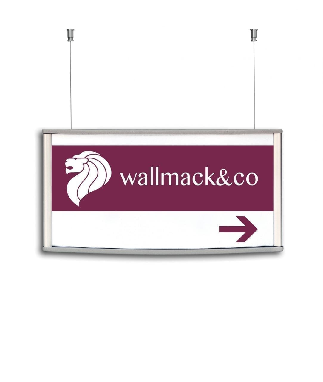 Ceiling suspended sign, double-sided – CONVEXA (CN733)