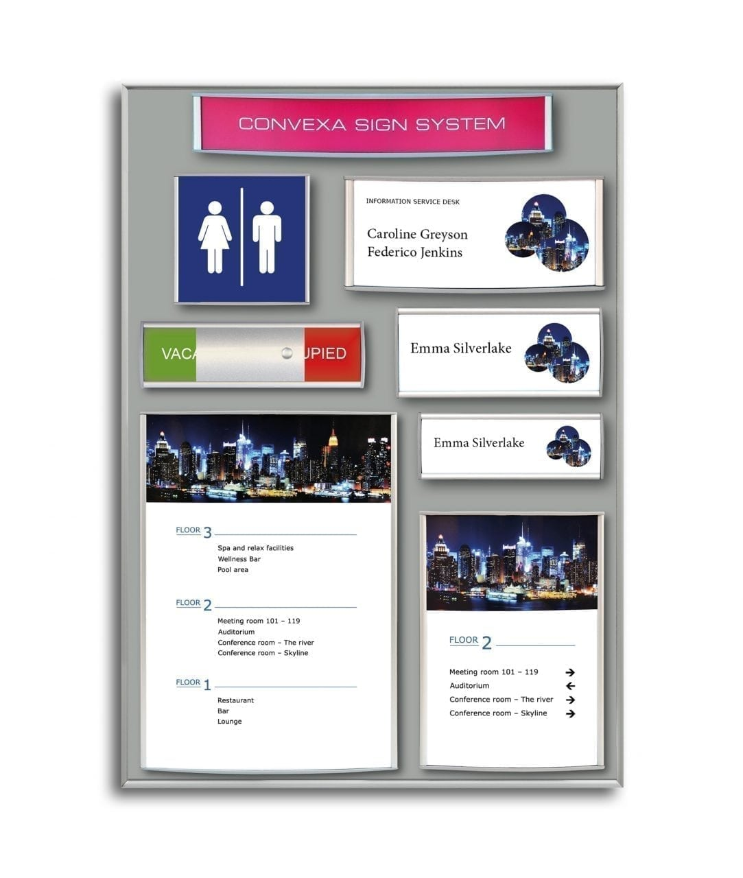 Demo display – CONVEXA sign collection (DDC-8)