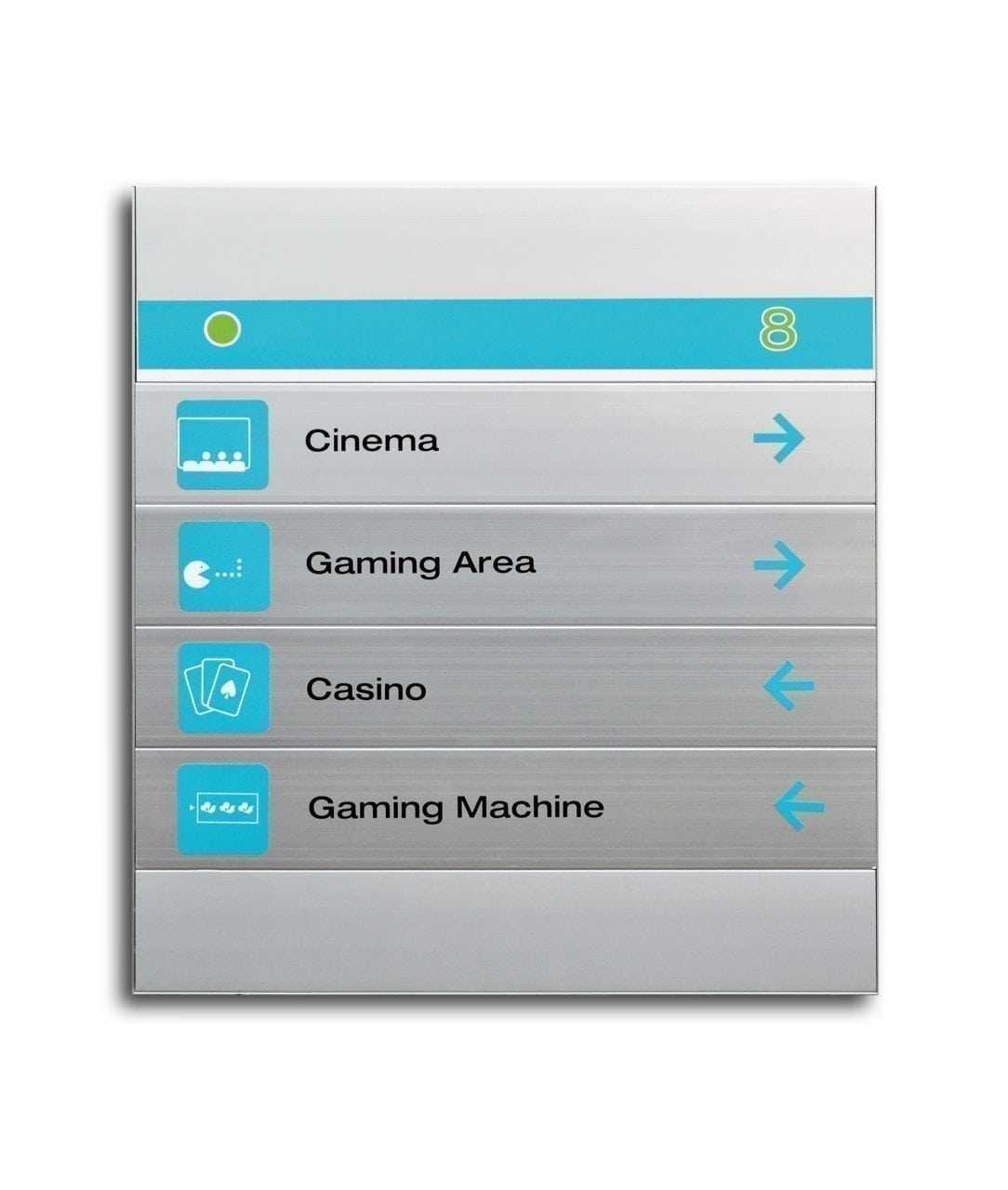 Flat directory sign with magnetic sign rows – MAGNETIC (MG545)