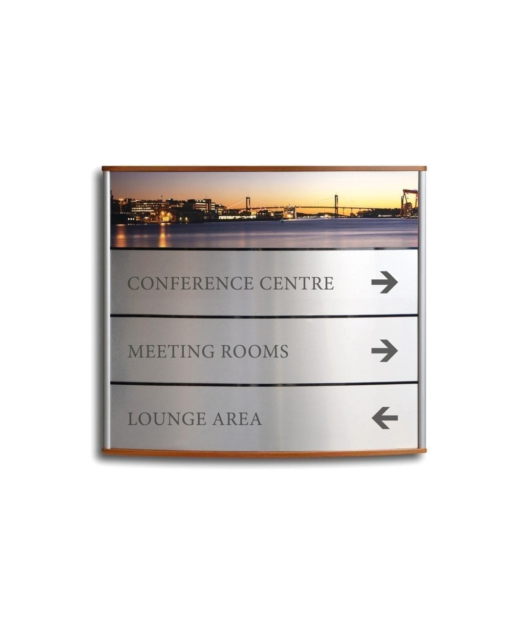 Curved directory sign, single panel with dividers – ELEGANCE (EG350)