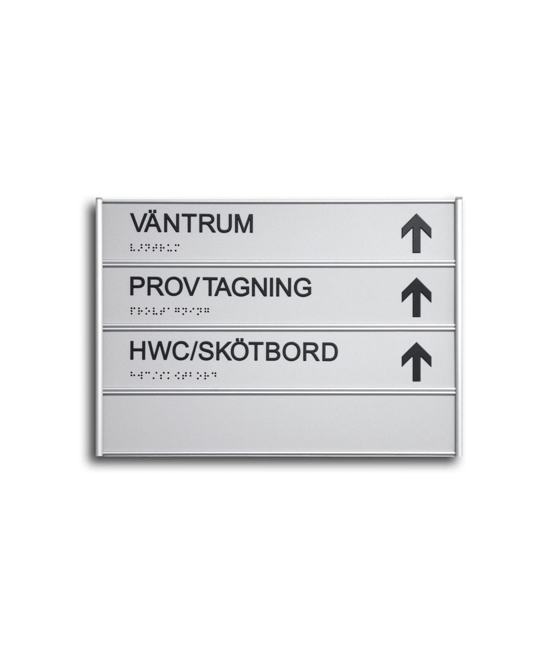 Tactile directory sign with replaceable inserts – SLIDE-DOWN (SD654)