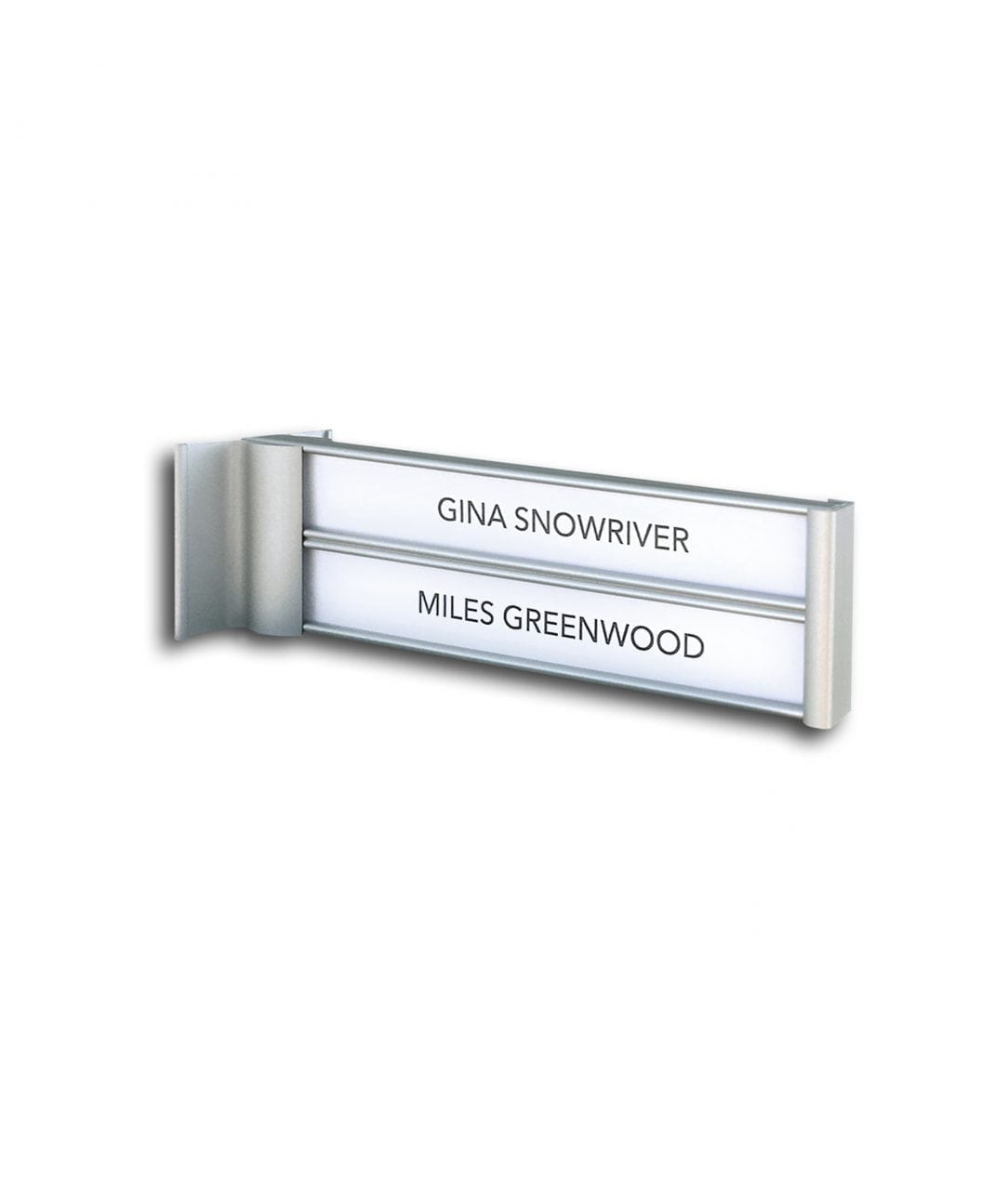 Flag sign / nameplate, double-sided – SLIM (SL842)