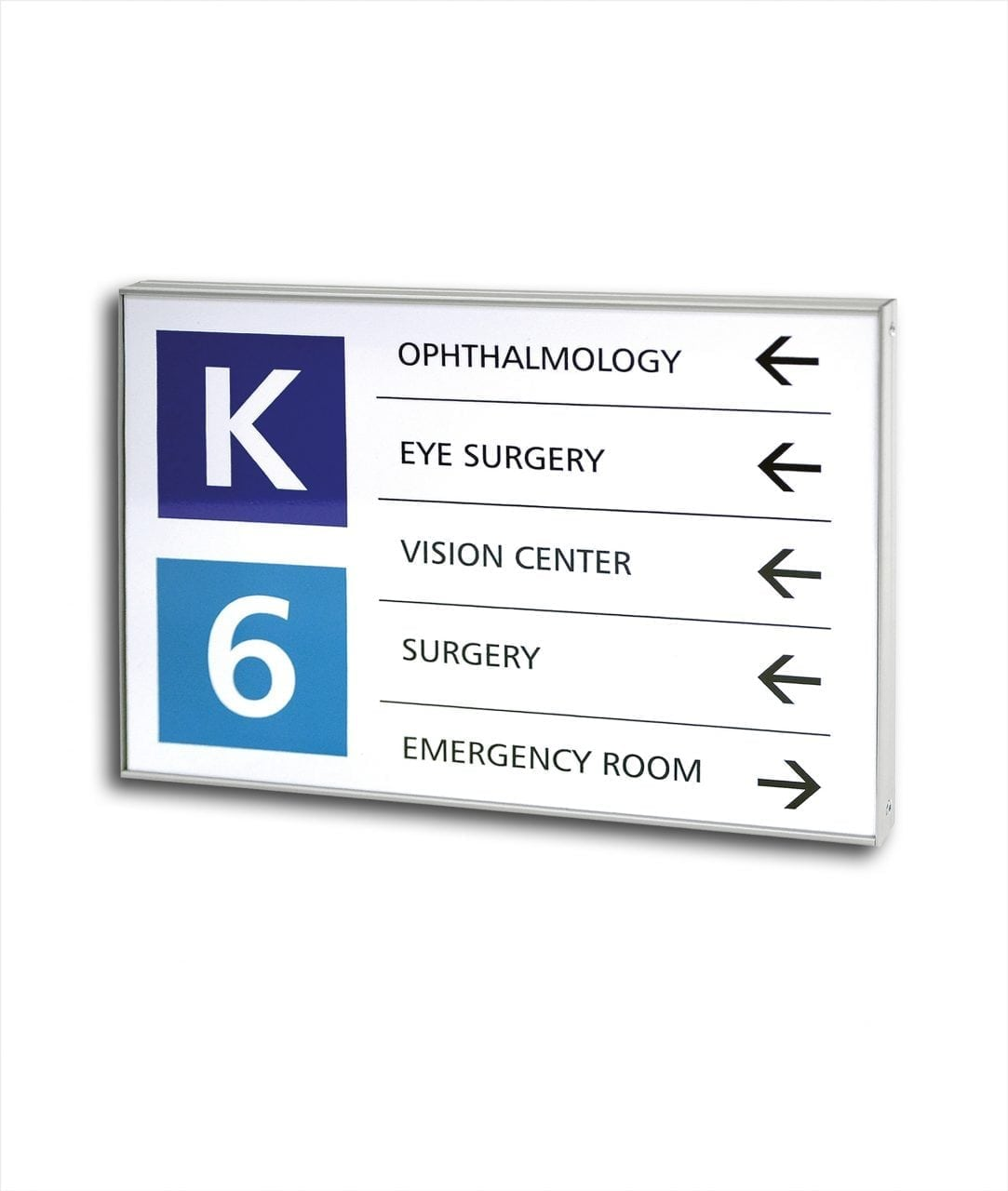 Flat directory sign with replaceable insert – FLEXI (FX456)
