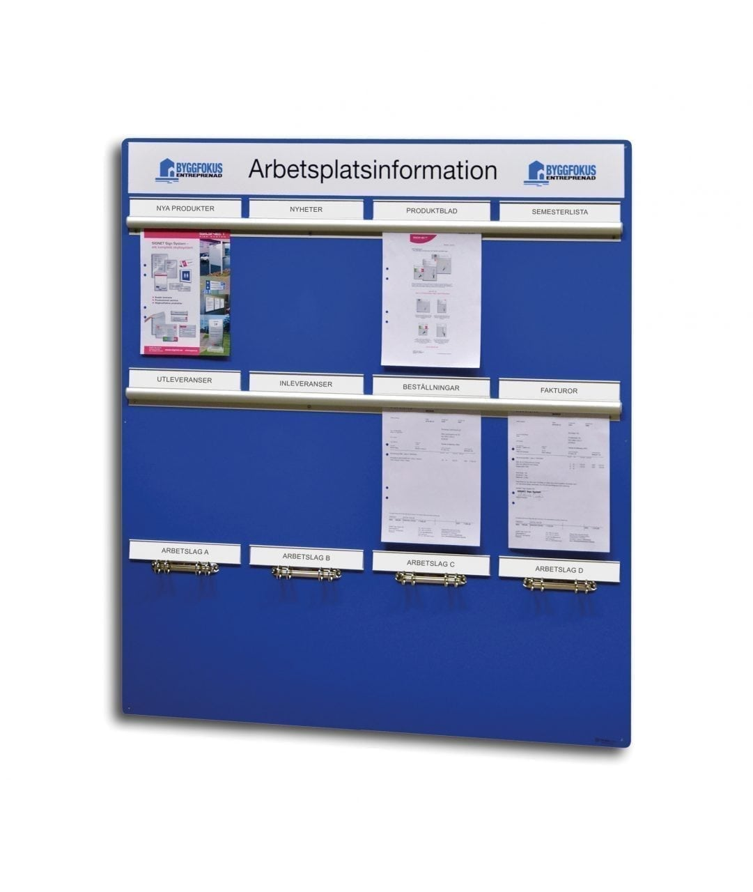 Information board with document holders – EASY SLIDE (AP1104)