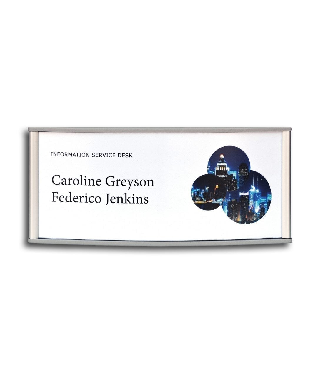 Curved nameplate with replaceable paper insert – CONVEXA (CN786)