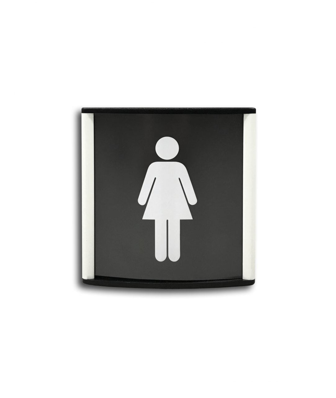 Curved pictogram sign, white coated – CONVEXA (CN798)