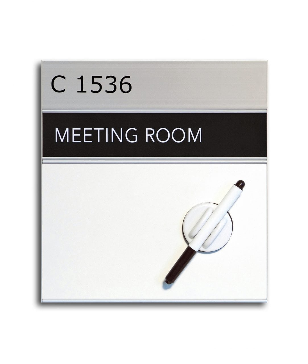 Whiteboard, room sign with replaceable insert  – SLIM (WB983)