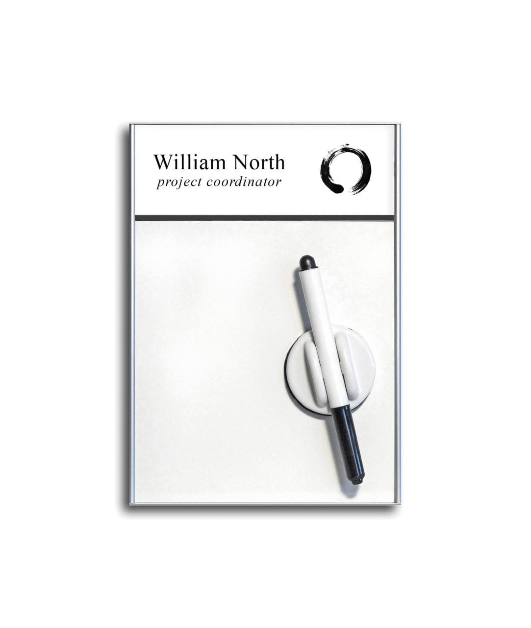Whiteboard sign with divider and replaceable insert – SLIM (WB986)