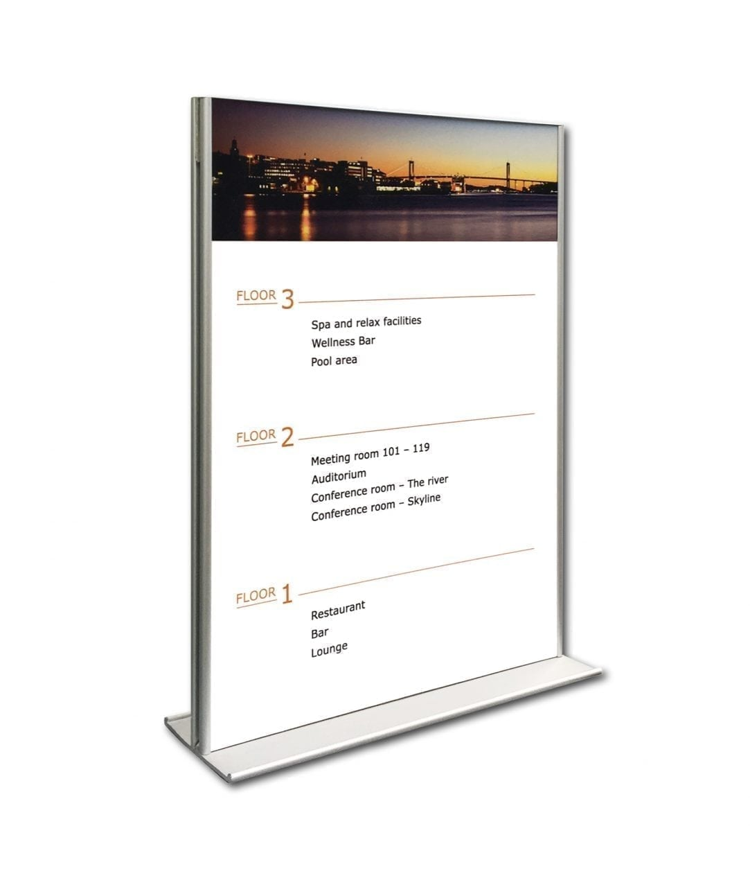 A4-size desk sign double-sided, flat – SLIM (SL809)