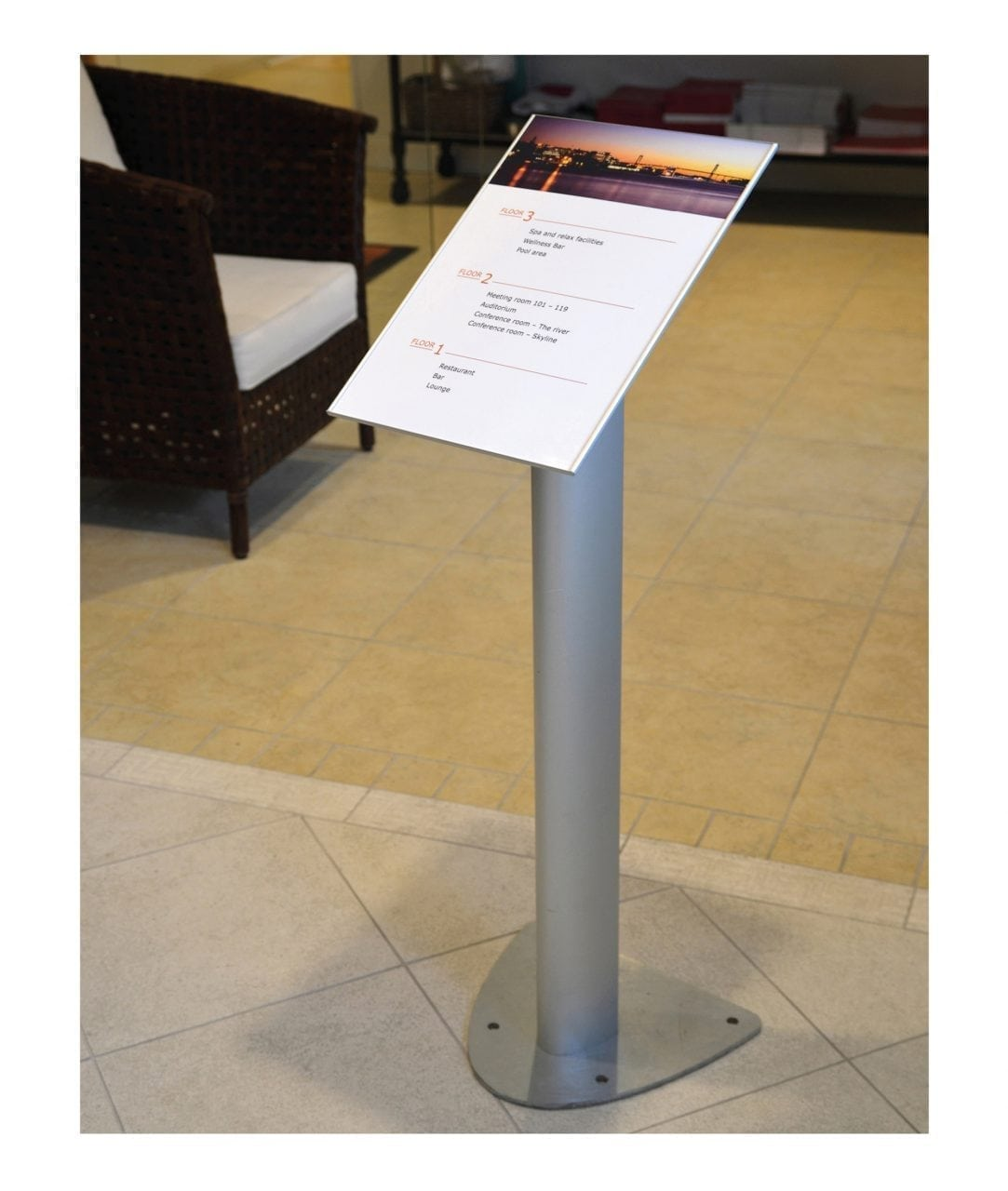 Freestanding pillar sign, indoor – TOTEM (TM256)
