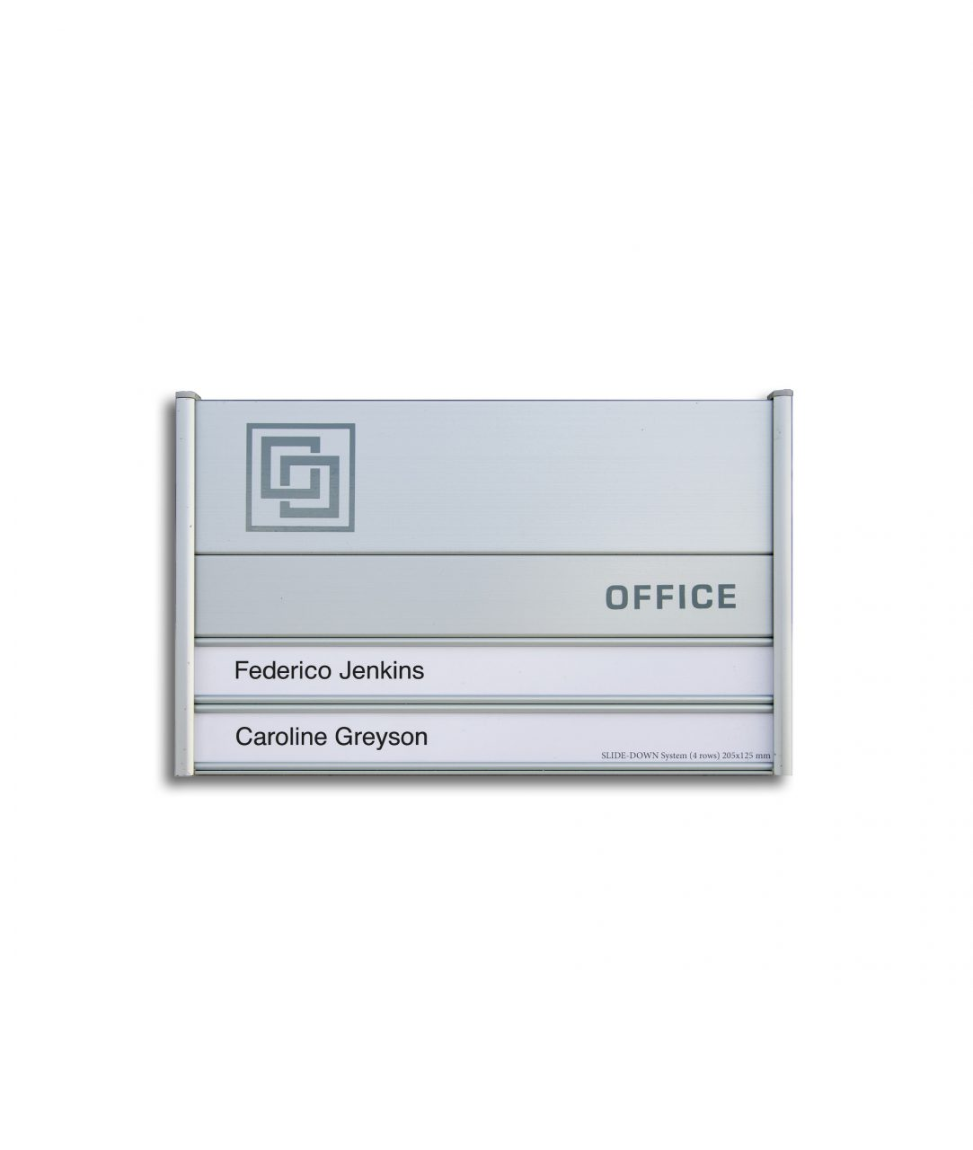 Flat nameplate, multi-row – SLIDE-DOWN (SD665)