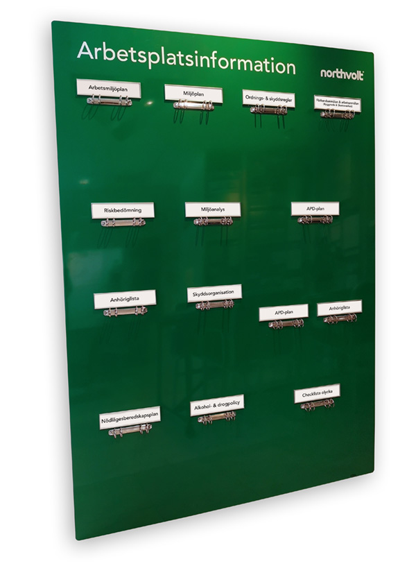 Information board, headers with replaceable paper inserts – SLIM (SL818)