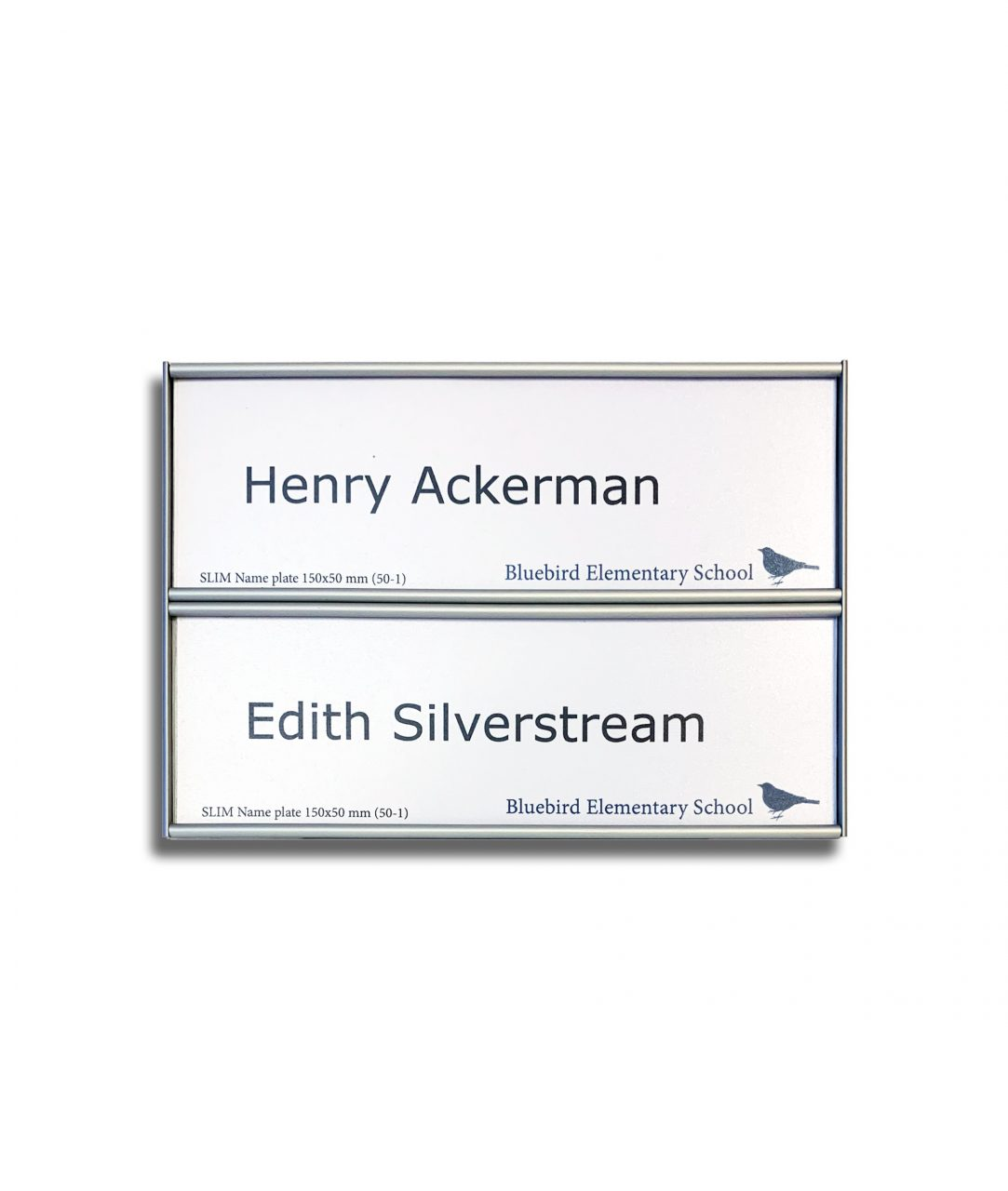 Flat nameplate, two-row – SLIM (SL895)