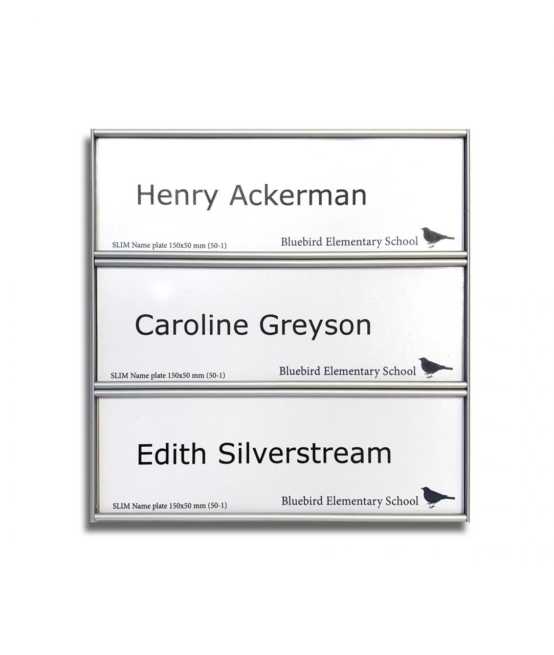 Flat nameplate, three-row – SLIM (SL896)