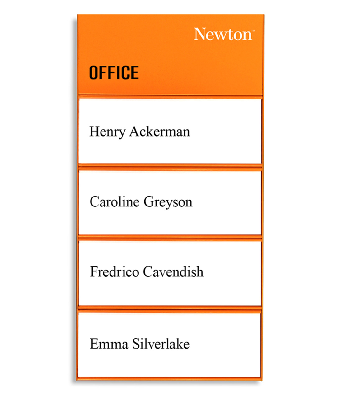 Door Sign w/ 4 Name Plates (SL1408-ORANGE)