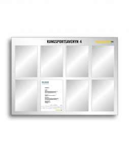 Bulletin Board with 8 pcs A4 sign frames