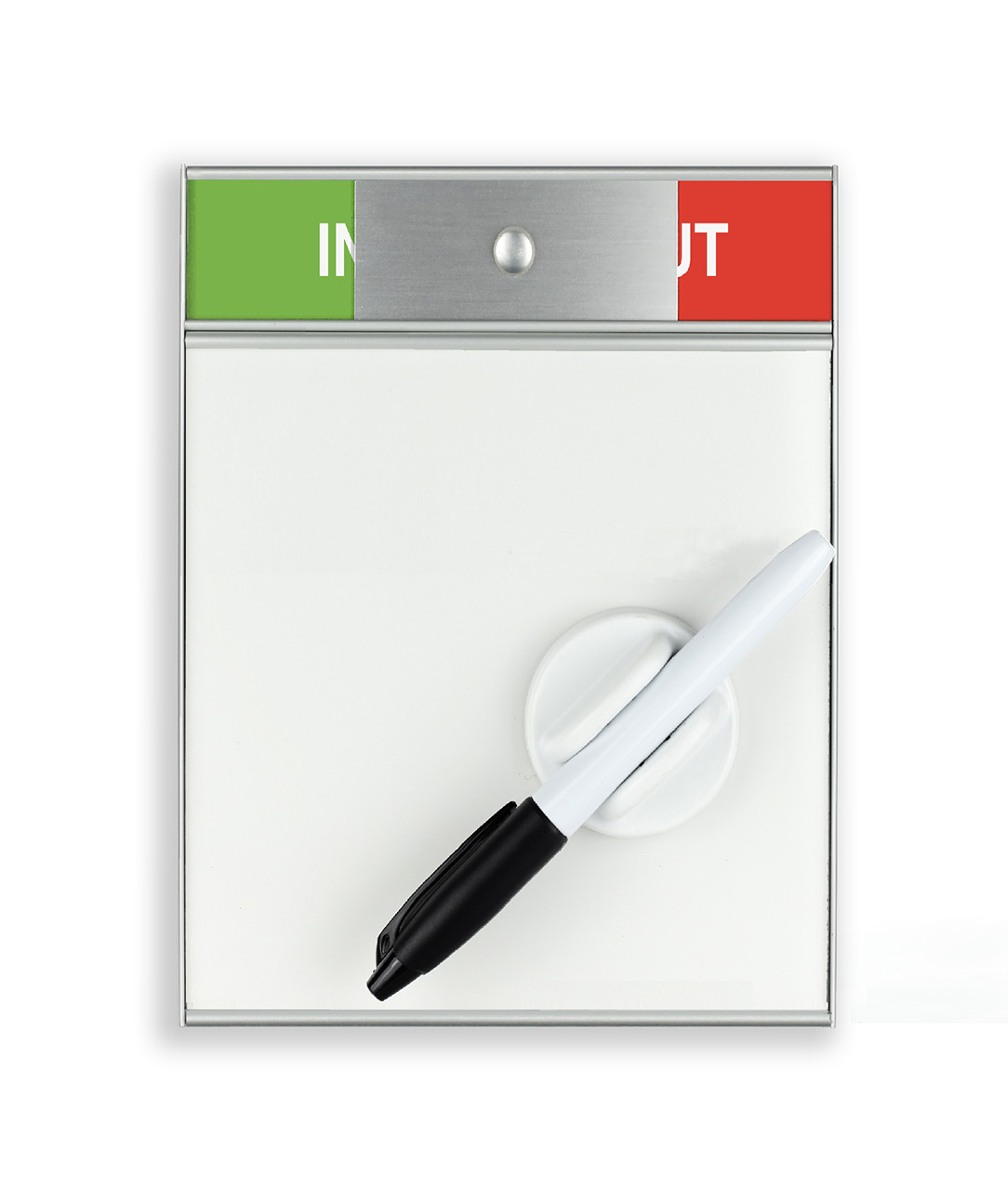 Door Sign with In / Out Slider and Whiteboard (WB1402)