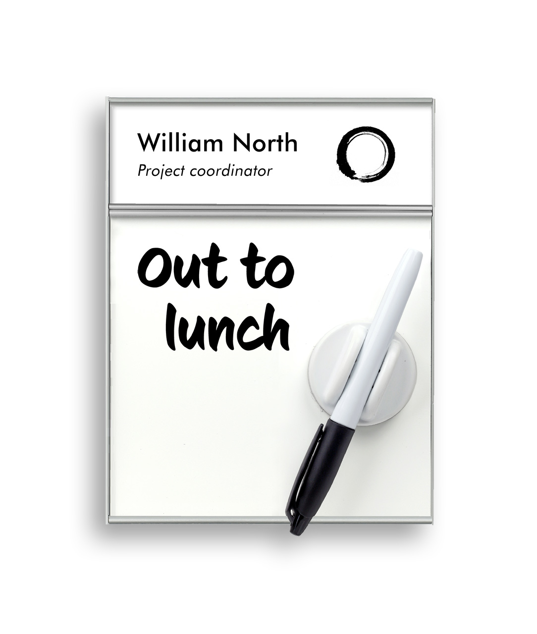 Door Sign with Name Plate and Whiteboard (WB1405)